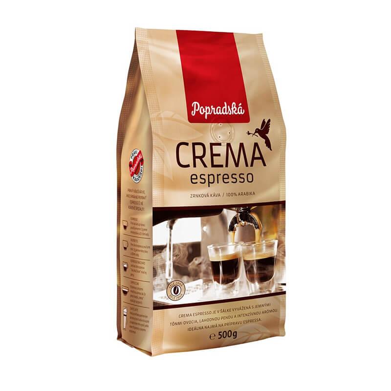 Popradská káva Crema espresso zrnková 500 g