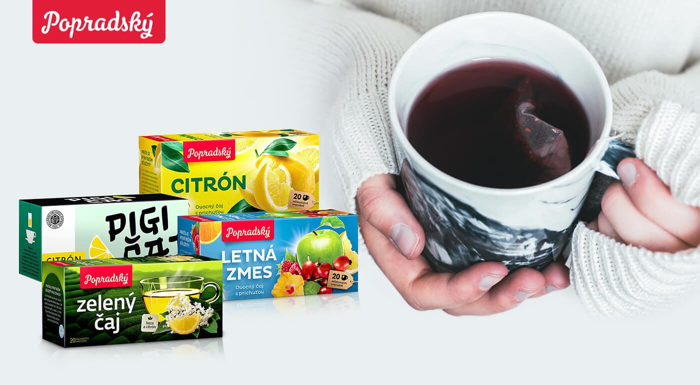 Popradské čaje - najobľúbenejšie ovocné, čierne alebo zelené druhy čajov
