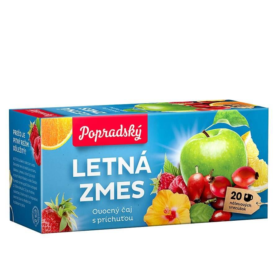 Popradský ovocný čaj Letná zmes (20 nálevových vreciek)