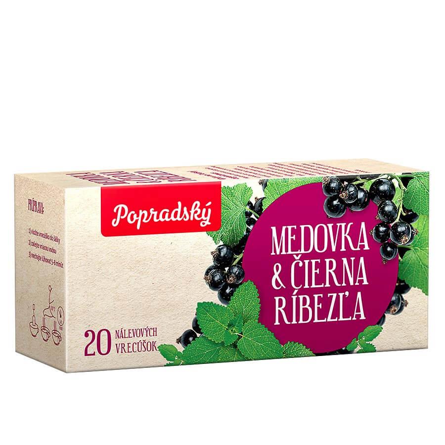 Popradský bylinný čaj Medovka a čierna ríbezľa (20 nálevových vreciek)