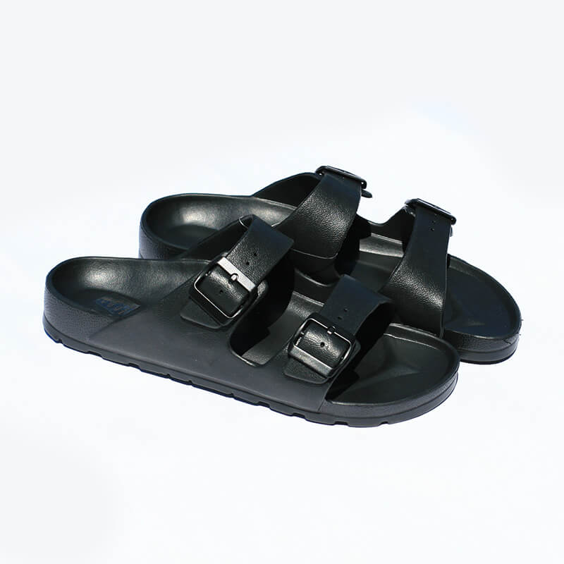 Flameshoes pánske šľapky s prackou čierne - veľkosť 42