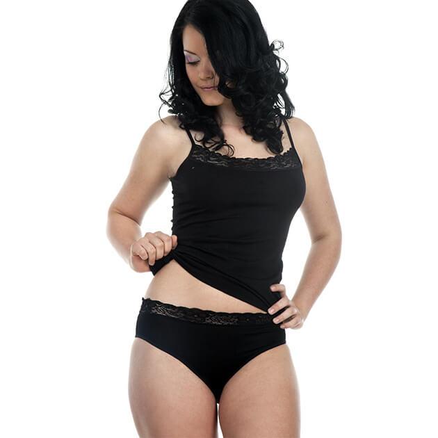 Dámske nohavičky PAGA - čierne, veľkosť S