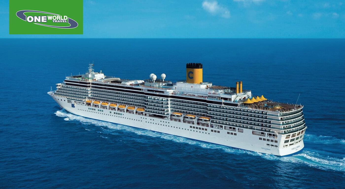 8-dňová okružná plavba po východnom Stredomorí luxusnou loďou Costa Luminosa - precestujte grécke pobrežie na plávajúcom meste