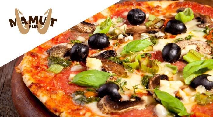 Pizza podľa vlastného výberu v Mamut pube