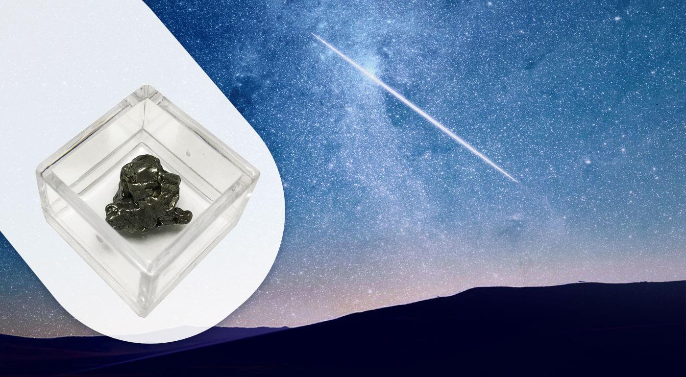 Náhrdelník v podobe pravého meteoritu - originálny darček z iného sveta a k tomu GRÁTIS achátový náramok