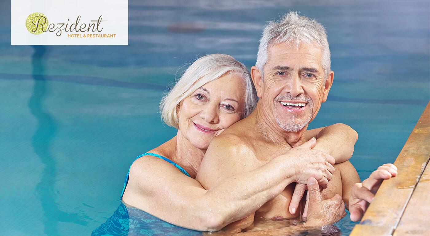 Hotel Rezident*** Turčianske Teplice: Rehabilitačný pobyt SENIOR GOLD s balíčkom wellness procedúr, vstupom do aquaparku a polpenziou
