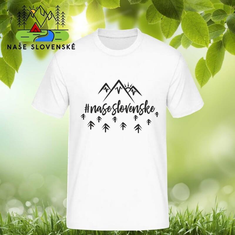 Pánske tričko s krátkym rukávom Naše slovenské - biele, veľkosť S