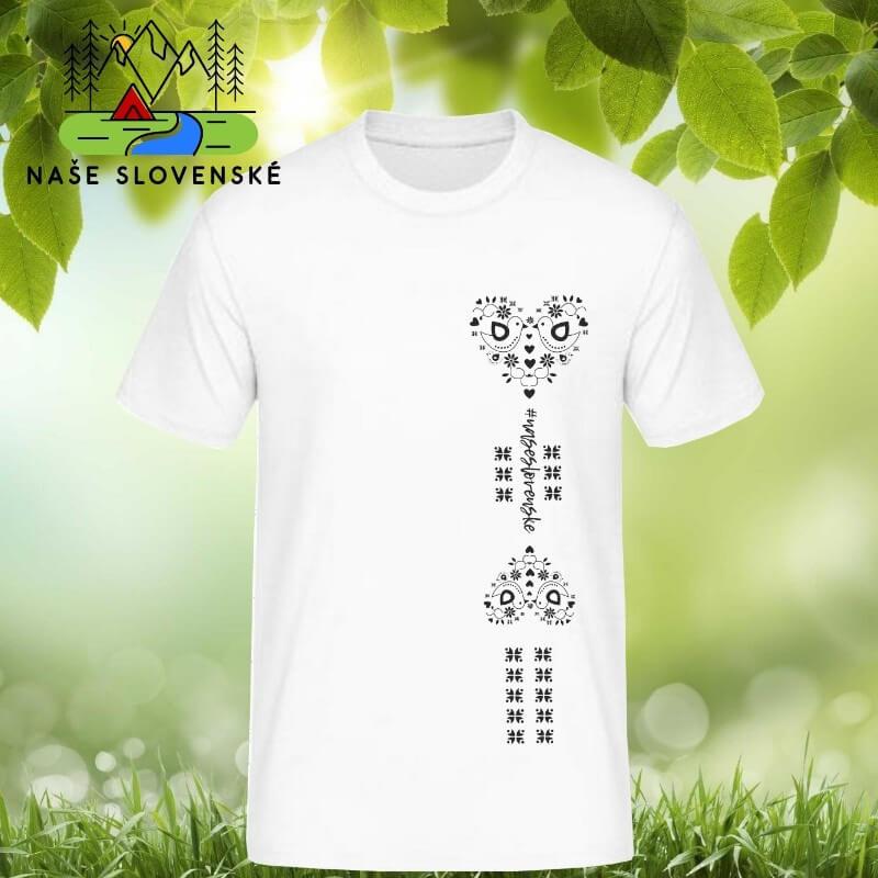 Pánske tričko s krátkym rukávom Srdce - biele, veľkosť S