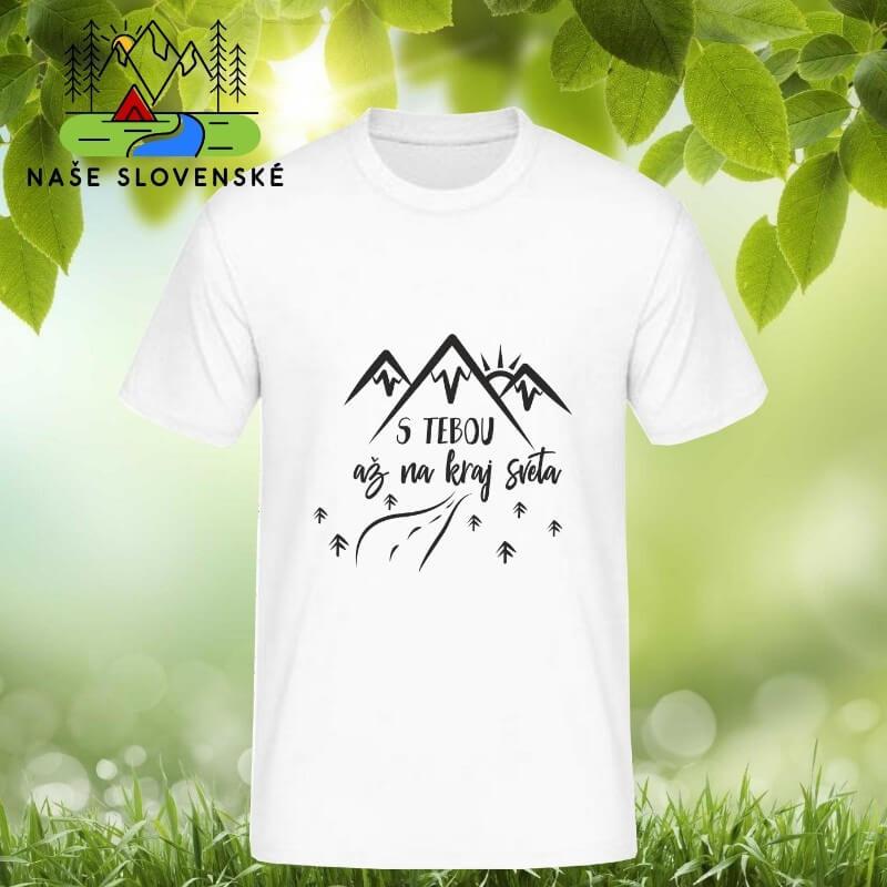 Pánske tričko s krátkym rukávom S tebou - biele, veľkosť S