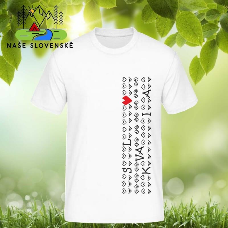 Pánske tričko s krátkym rukávom Slovakia - biele, veľkosť S