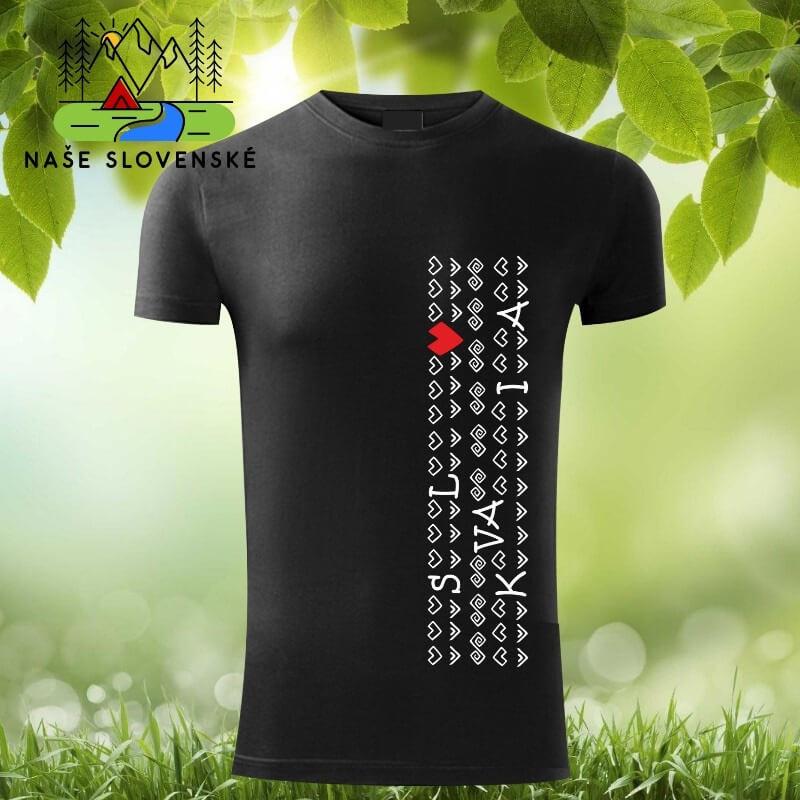Pánske tričko s krátkym rukávom Slovakia - čierne, veľkosť S