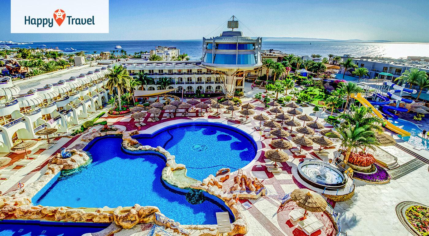Egypt - Hurgada: 8 alebo 15 slnečných dní v Seagull Beach Resorte**** s all inclusive a aquaparkom - odlet z Bratislavy a Piešťan