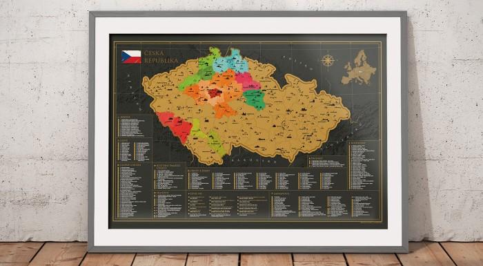 Najpodrobnejšia stieracia mapa Česka - spoznajte najkrajšie miesta u našich susedov a zaznačte si svoje výlety na originálnu mapu. Ideálny darček pre vašich blízkych - Slovákov i Čechov :)
