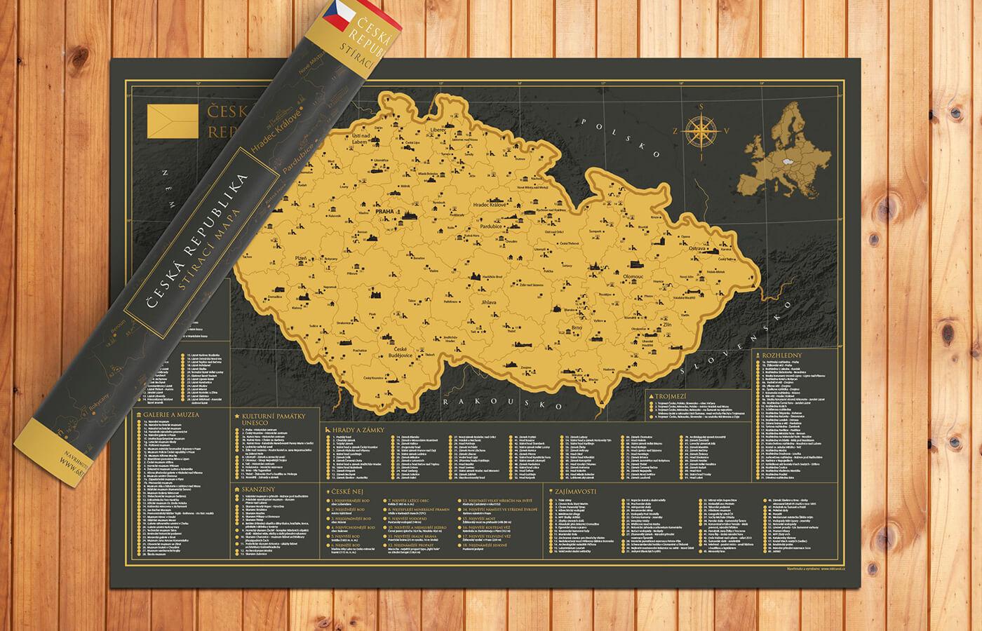Stieracia mapa Česka