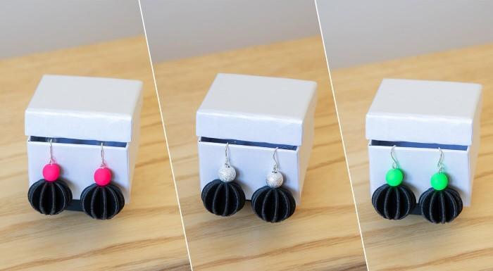 Dizajnové náušnice Moonica vyrobené na Slovensku