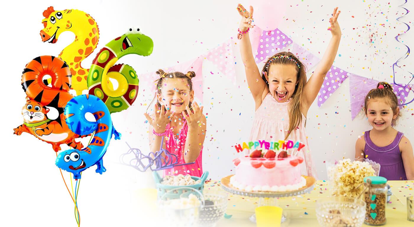 Narodeninové balóny v tvare milých zvieratiek alebo balónový nápis HAPPY BIRTHDAY