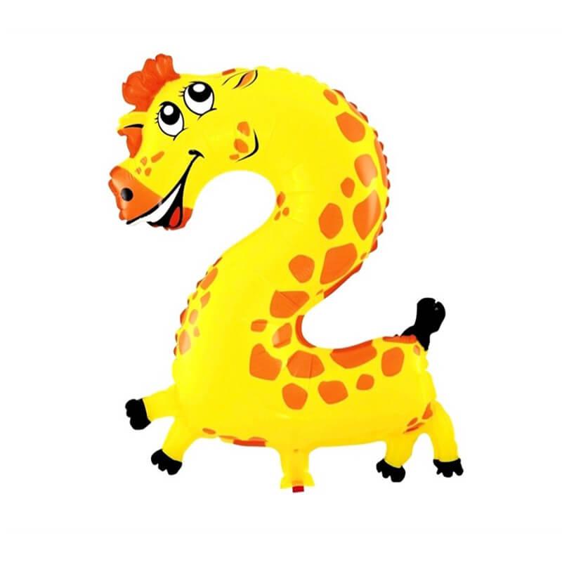 Narodeninový balón v tvare zvieratka - číslo 2