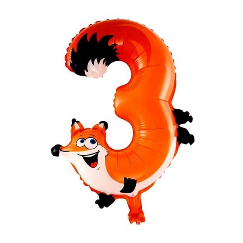 Narodeninový balón v tvare zvieratka - číslo 3