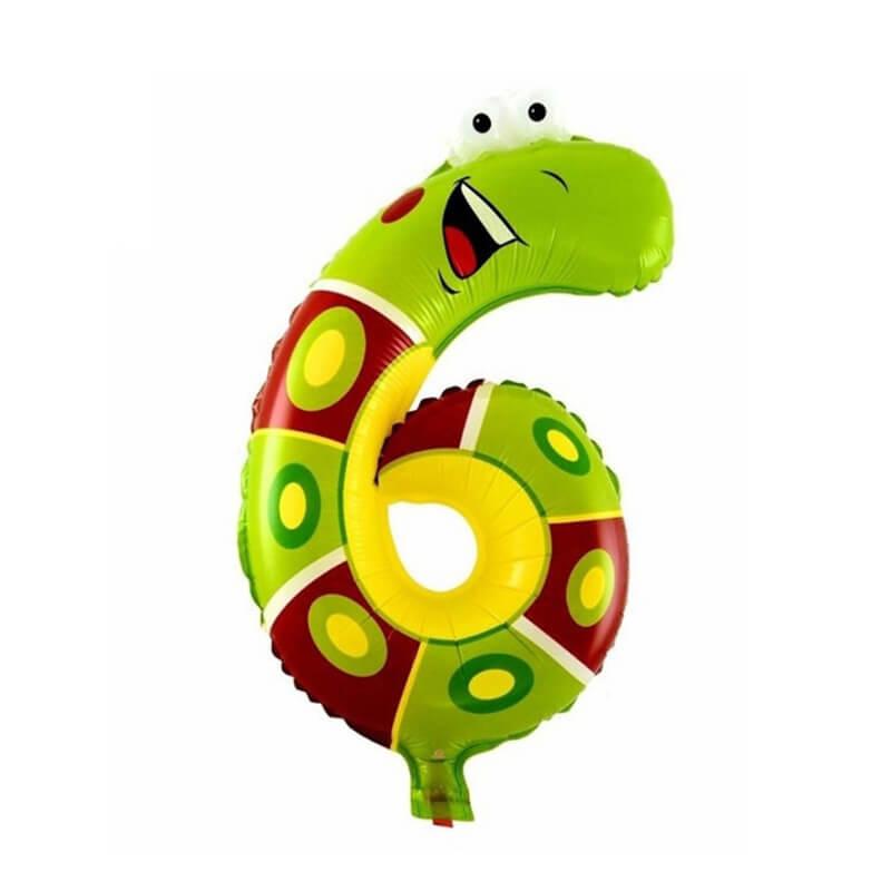 Narodeninový balón v tvare zvieratka - číslo 6