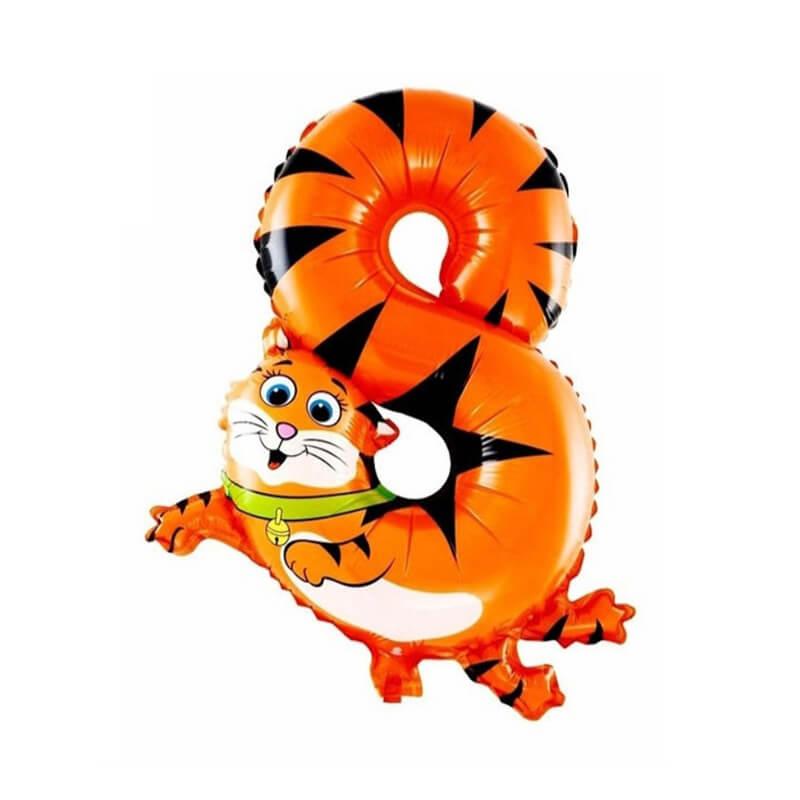 Narodeninový balón v tvare zvieratka - číslo 8