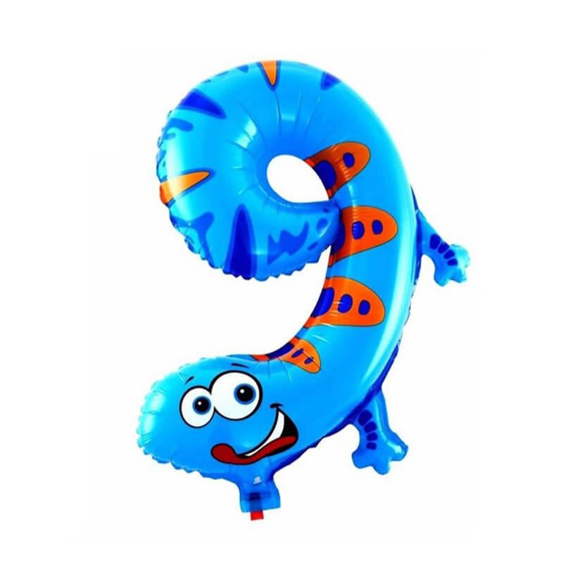 Narodeninový balón v tvare zvieratka - číslo 9