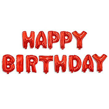 Set narodeninových balónov HAPPY BIRTHDAY červený