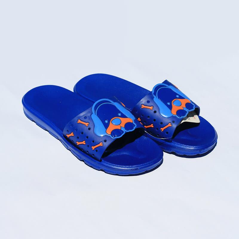 Flameshoes detské šľapky so psíkom modré - veľkosť 33