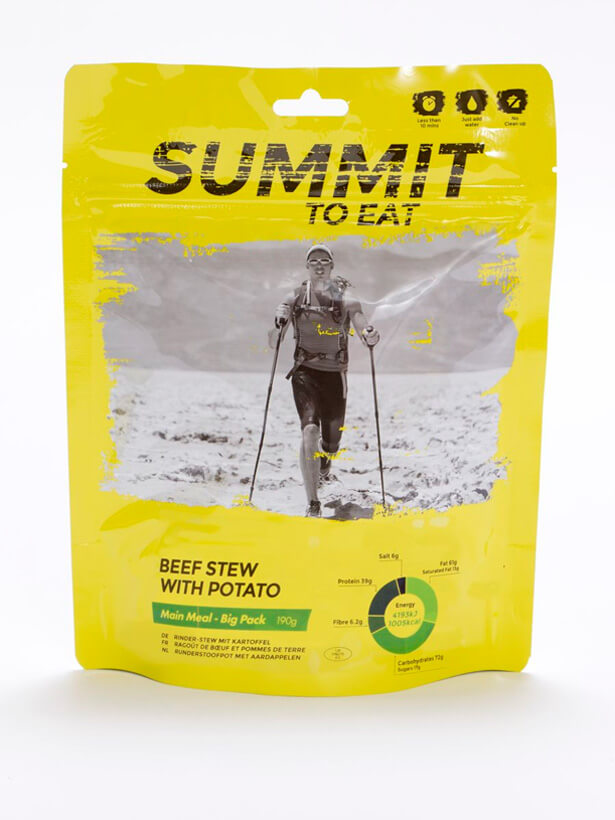 Mrazom sušené jedlo Summit to eat - Dusené hovädzie so zemiakmi 190 g (1 porcia)