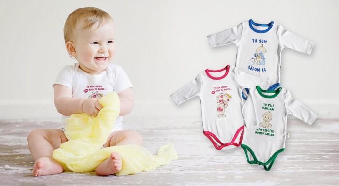 Body pre bábätká so slovenskými nápismi