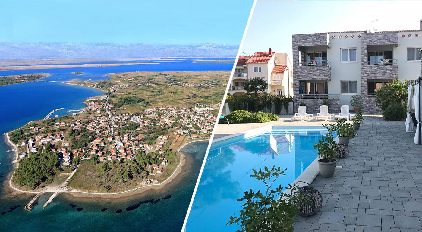 Chorvátsko: Luxusné Apartmány Punta s vlastným bazénom iba 200 metrov od pláže