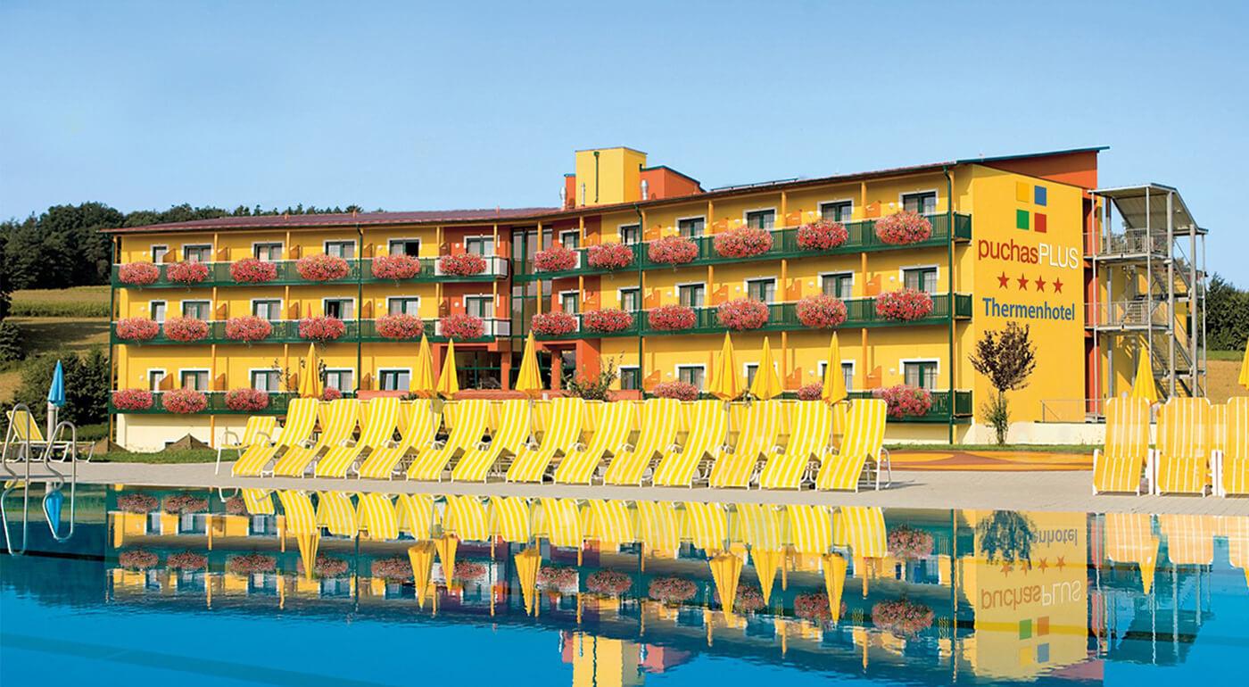 Rakúsko: Dovolenka v obľúbenom Thermenhoteli PuchasPLUS**** s wellness s termálnymi bazénmi a 9 saunami