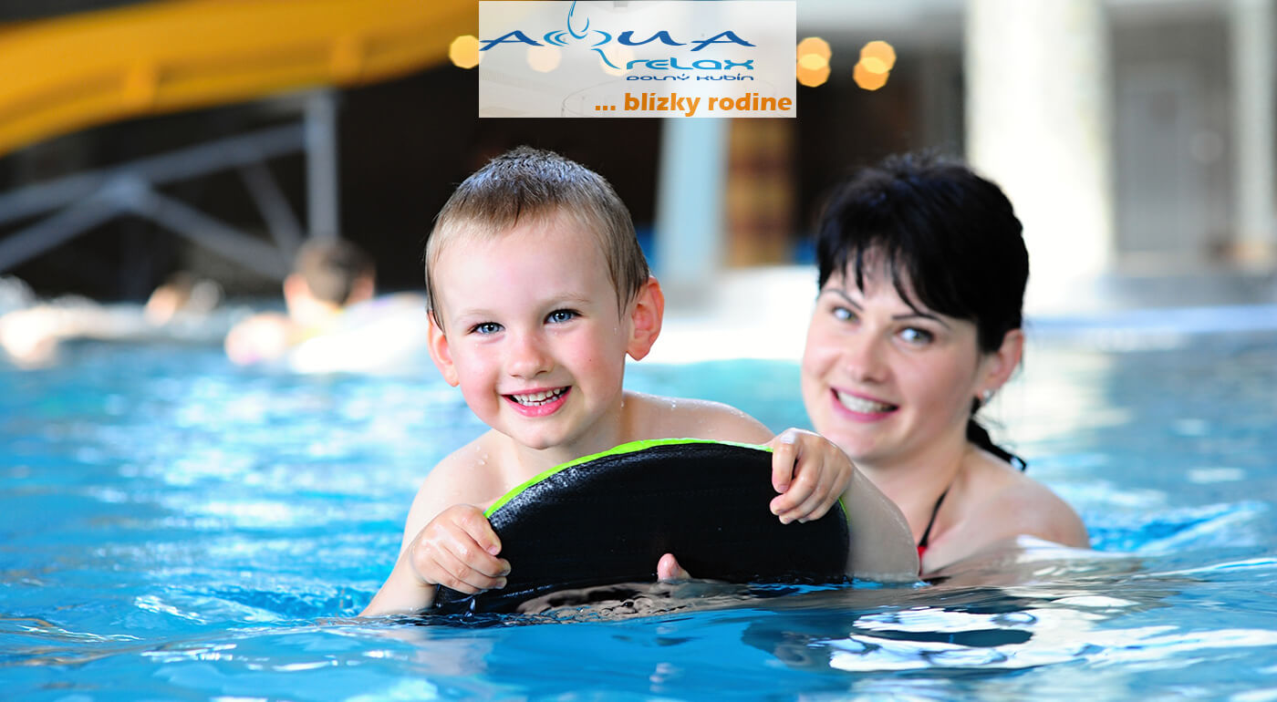 Celodenný vstup do Vodného sveta (relaxačný bazén + plavecký bazén) AquaRelax pre 1 dieťa 3-15 rokov, resp. do 150 cm