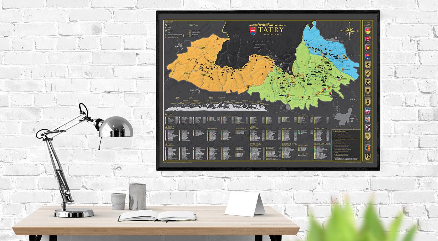 Stieracia mapa Tatier pre turistov, dobrodruhov a milovníkov našich veľhôr