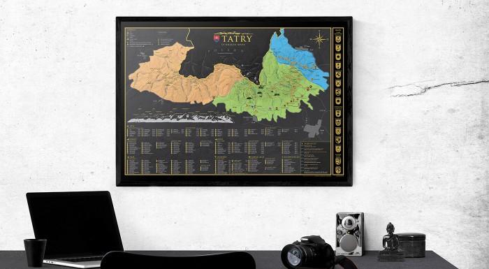 Sú pre vás potulky Tatrami prirodzené ako dýchanie? Zaobstarajte si našu novučičkú stieraciu mapu Tatier a zaznačte si do nej každý svoj výlet, prechádzku alebo plánované dobrodružstvo!