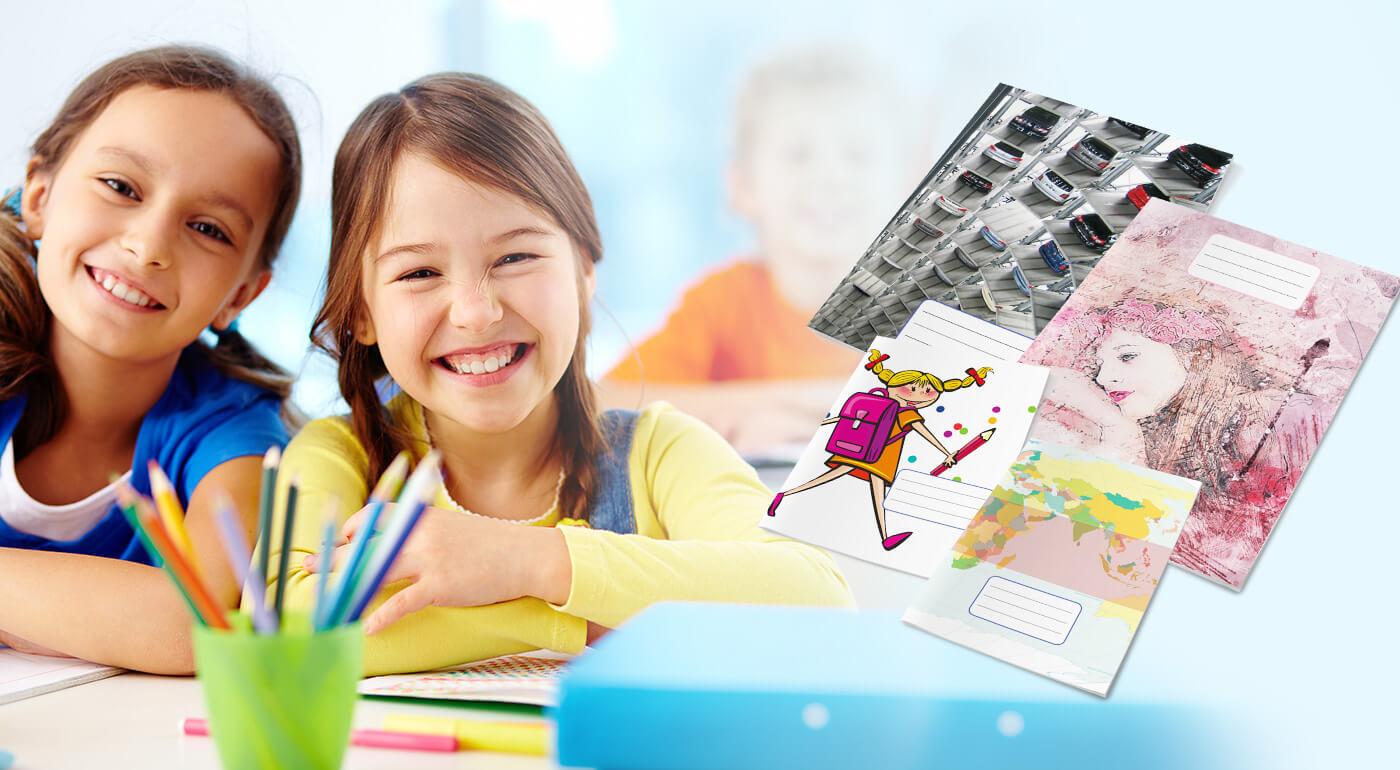 Školské zošity s originálnym dizajnom, ktorý v obchodoch nenájdete - výhodné balenia pre základné školy