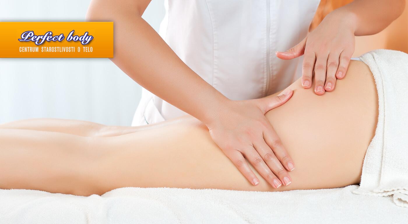 Manuálna anticelulitídna masáž v štúdiu Perfect Body v Bratislave