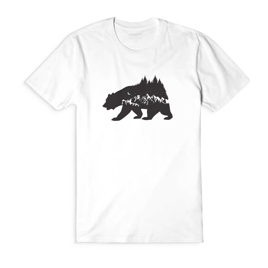 Dámske tričko s krátkym rukávom Strážca lesa - biele, veľkosť S
