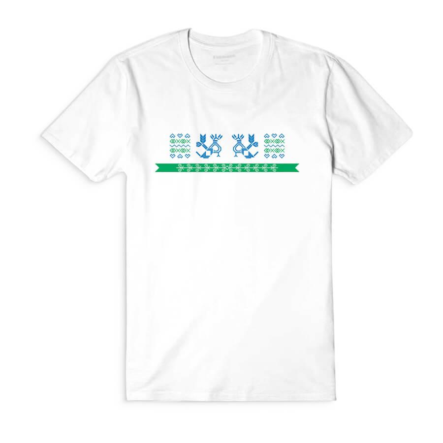 Dámske tričko s krátkym rukávom Hrdé kohúty - biele, veľkosť S