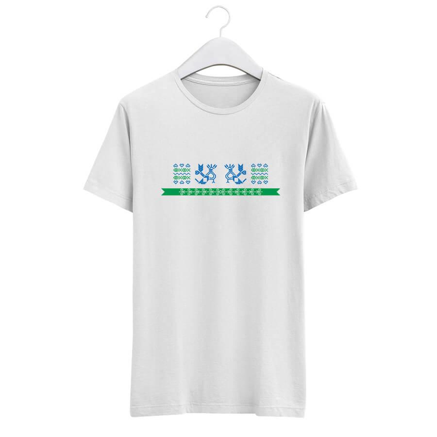 Pánske tričko s krátkym rukávom Hrdé kohúty - biele, veľkosť M