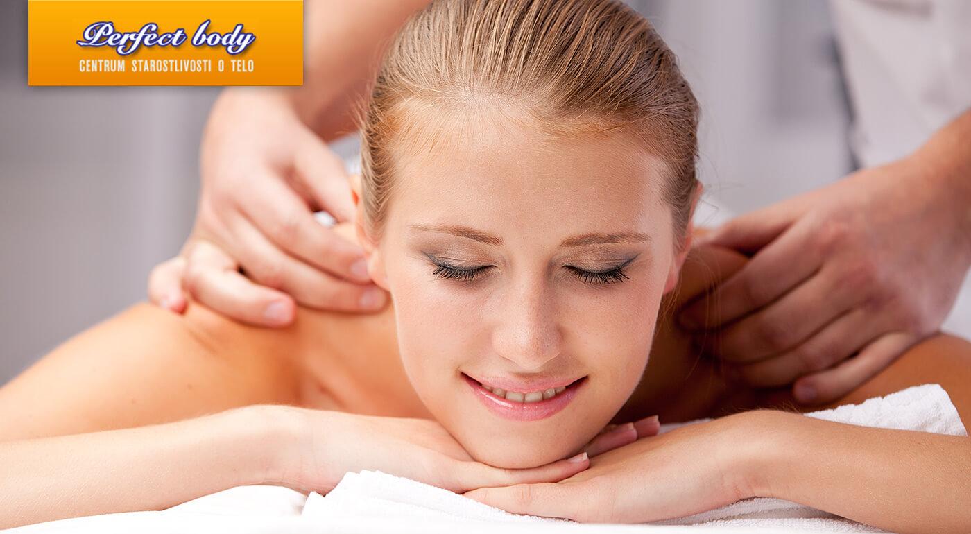 Antistresová masáž vás nielen zbaví prebytočného stresu, ale aj prečistí pleť, ukľudní svaly a zlepší krvný obeh. V salóne Perfect Body sapostarajú o vaše kompletné uvoľnenie, príďte!