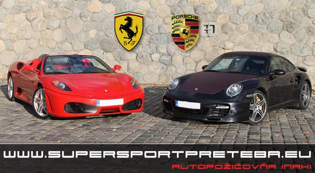 Nezabudnuteľná jazda na Porsche 911 Turbo alebo na Ferrari F430.