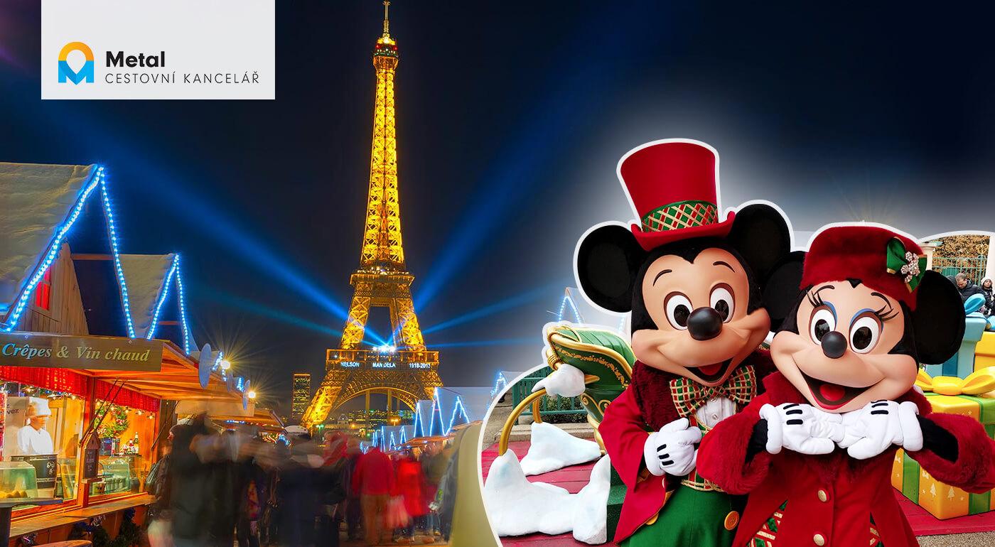 Adventný Paríž: 4-dňový zájazd s návštevou rozprávkového Disneylandu aj s ohňostrojom