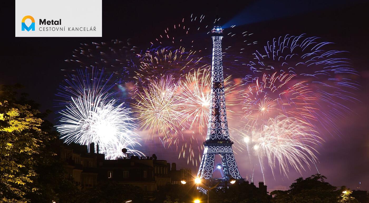 Silvestrovský Paríž s návštevou Disneylandu s ohňostrojom