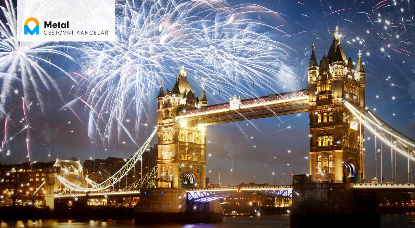 Londýn na Silvestra alebo 5-dňový zájazd za oslavou Nového roka v britskom štýle so sektom pre pár