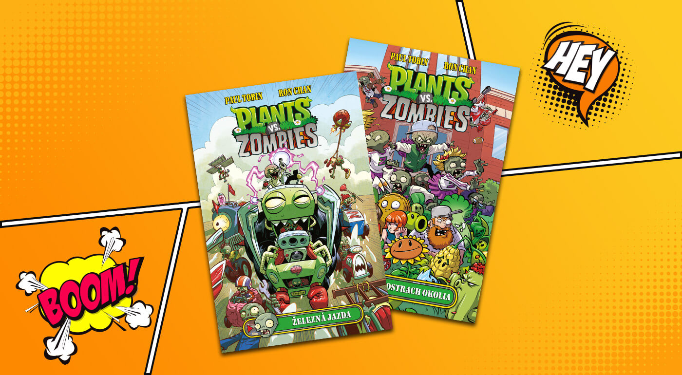 Detské komiksy Plants vs. Zombies inšpirované populárnou videohrou