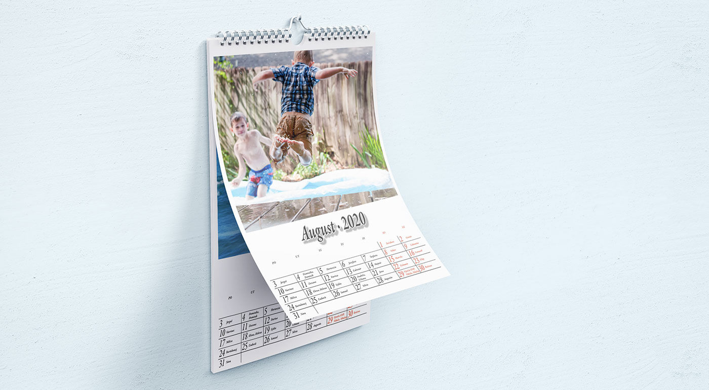 Nástenný kalendár na rok 2020 s fotografiami podľa vlastného výberu - formáty A4 a A3