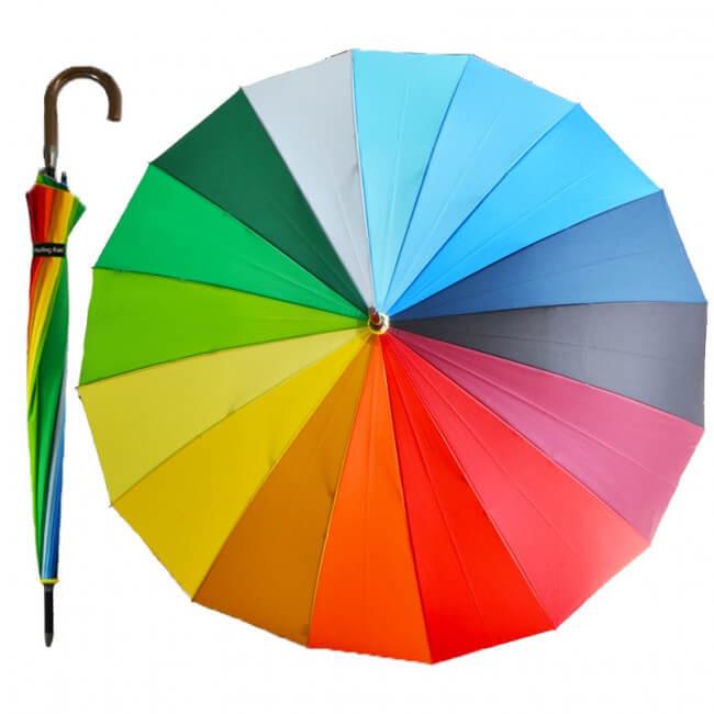 Poloautomatický dáždnik Dúha