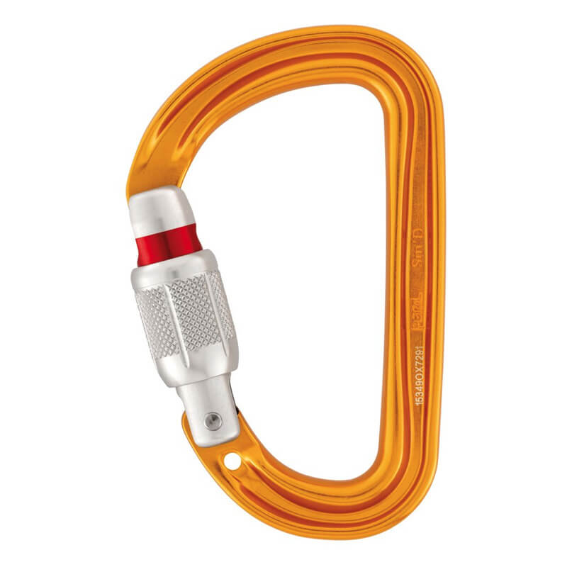 PETZL Sm´D Screw-Lock Karabína žltá