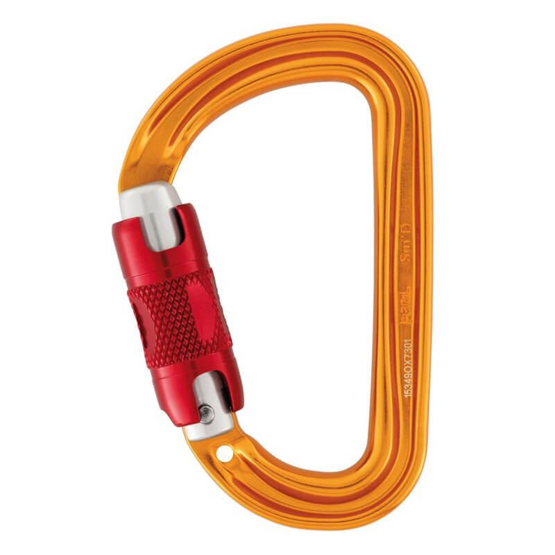 PETZL Sm´D Twist-Lock Karabína žltá