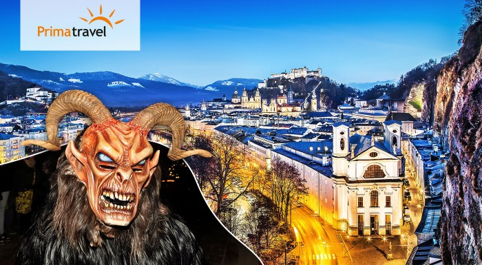 Najkrajšie adventné miesta Rakúska počas 2 dní. Nepremeškajte vianočný Salzburg a najväčší beh čertov v Európe a vyzdobené jazero Wolfgangsee.